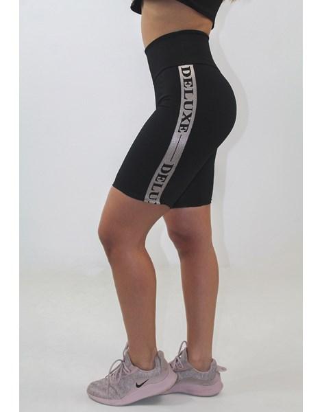 Bermuda Fitness Feminina Deluxe Preta REF: LX139