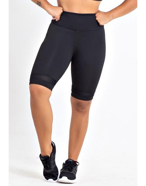 Bermuda Fitness Feminina Lisa Preto REF: LX142