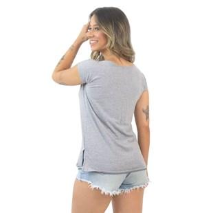 Blusa Feminina Lisa Manga Curta Mescla REF: VSC8