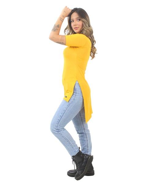 Blusa Feminina Long Line Amarelo REF: VSC15