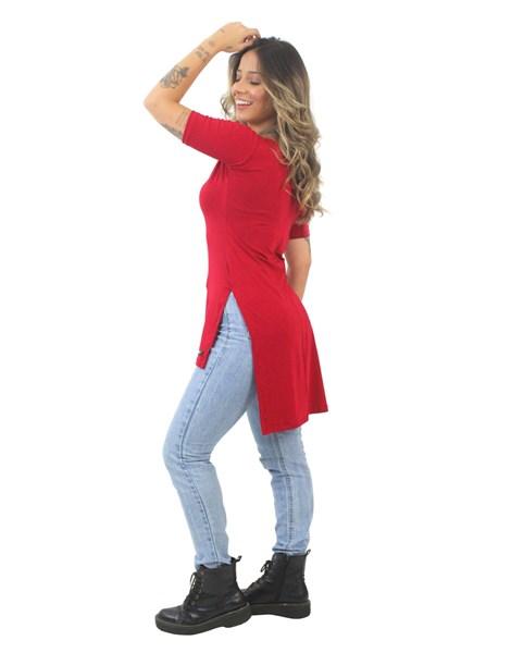 Blusa Feminina Long Line Vermelho REF: VSC14