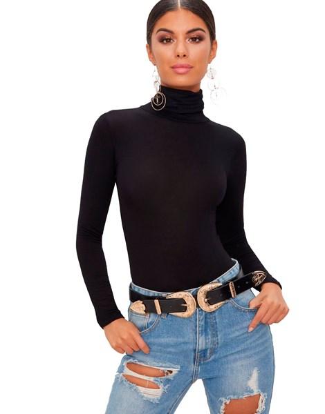 Body Feminino Gola Alta Manga Longa REF: BLC15