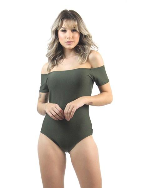 Body Feminino Liso Ombro a Ombro REF: OUT-LT20