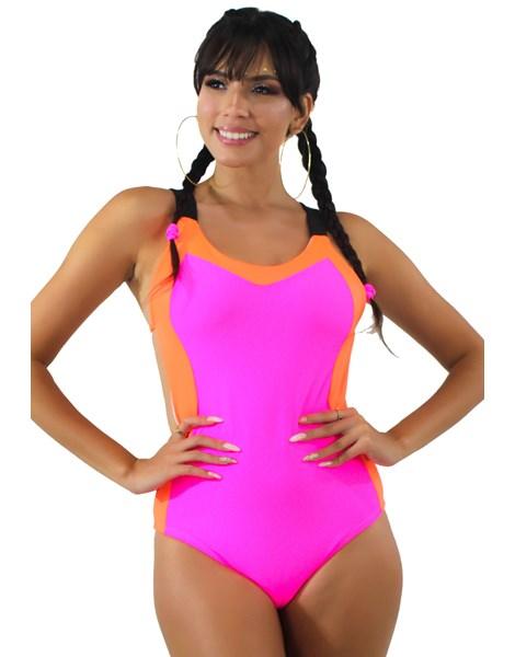 Body Neon Com Alcinha Rosa Neon REF: BN8