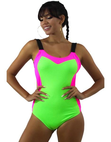 Body Neon Com Alcinha Verde Neon REF: BN7