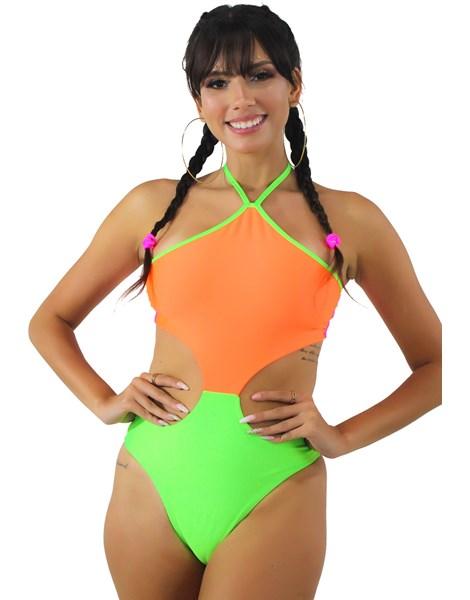 Body Neon Com Cava na Cintura Multicolorido REF: BN9