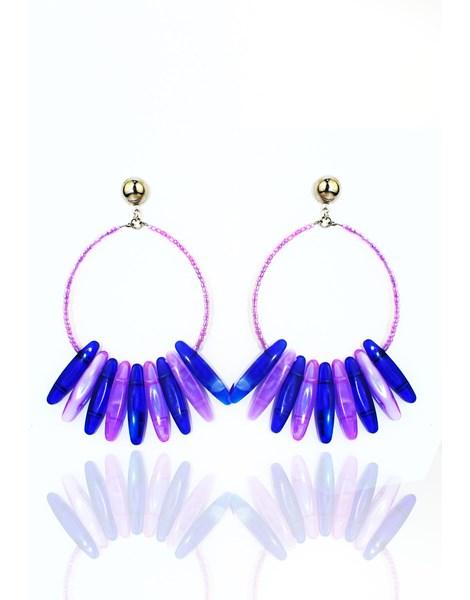 Brinco Feminino Luxo Blue Purple REF: MLP07