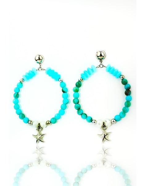 Brinco Feminino Luxo Blue Sea REF: MLP09