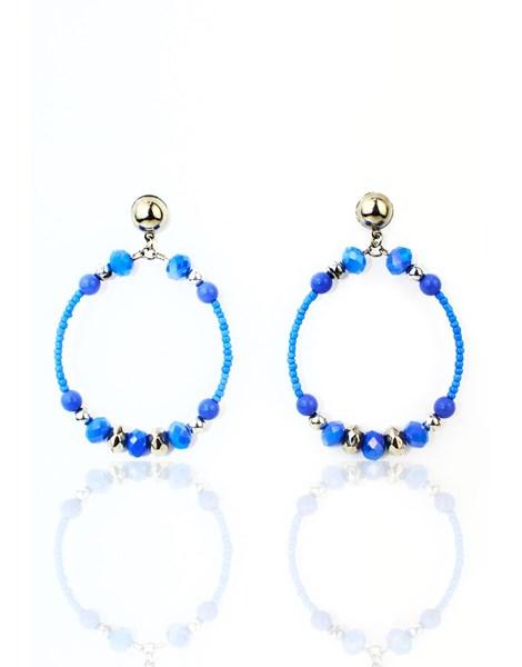 Brinco Feminino Luxo Blue Sky Cristal REF: MLP05