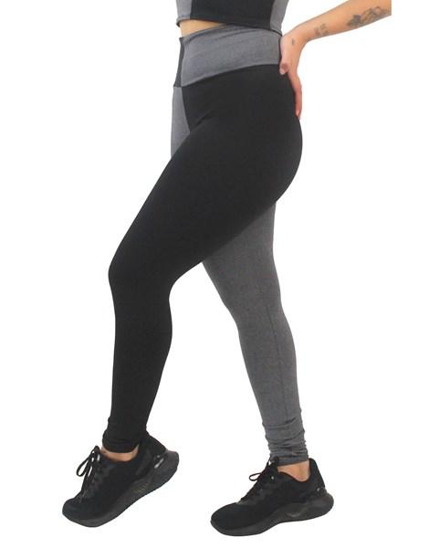 Calça Legging Fitness 2 Cores Mescla com Preto REF: LX163