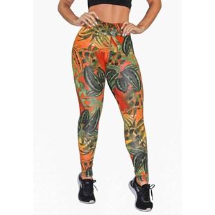 Calça Legging Fitness Estampada Colorful Floral REF: OUT-LXE08