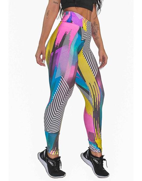 Calça Legging Fitness Estampada Colorful Mosaic REF: OUT-LXE03