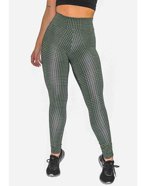 Calça Legging Fitness Estampada Striped Green REF: OUT-LXE13