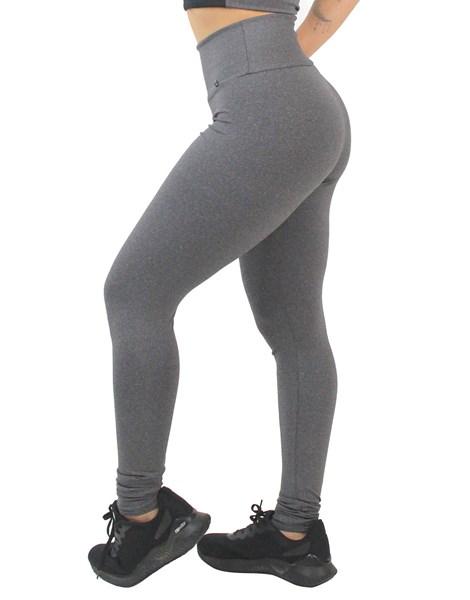Calça Legging Fitness Mescla Lisa REF: LX170