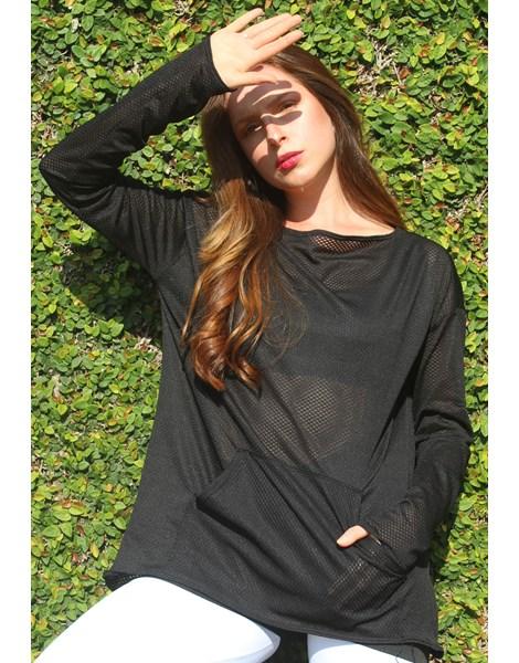 Casaco Feminino Tecido Dry Preto Com Bolso REF: CSC4