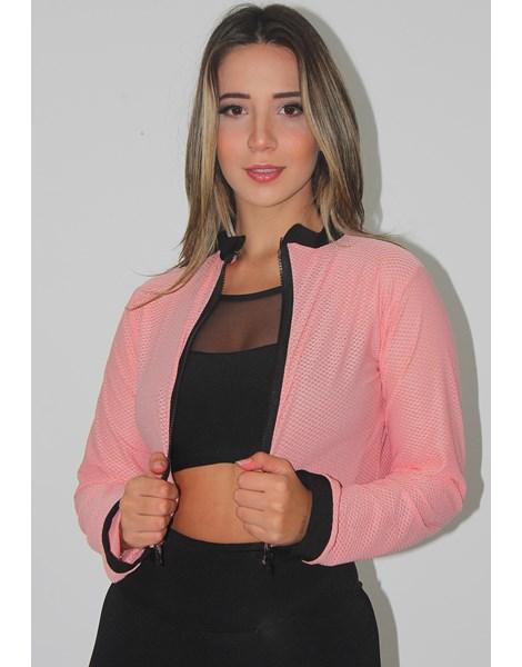 Casaco Fitness Feminino Ziper REF: LX121