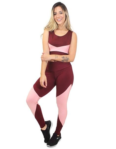 Conjunto Calça Legging e Cropped Candy REF: LX10