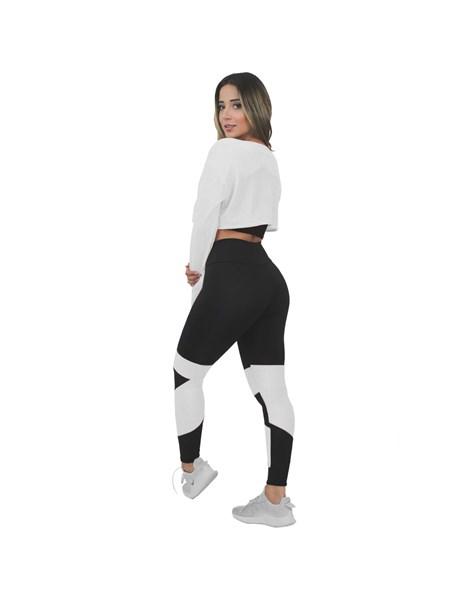 Conjunto Fitness Calça Legging e Top Dry Branco REF: LX147-B