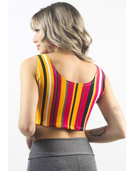 Cropped Fitness Estampado Colored Stripes REF: CXE2