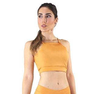 Cropped Top Fitness Alcinha Basic Amarelo REF: CC25