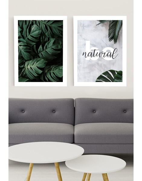 Kit de Quadros Decorativos Be Natural e Tranquilizing Leaves REF: KQDR1