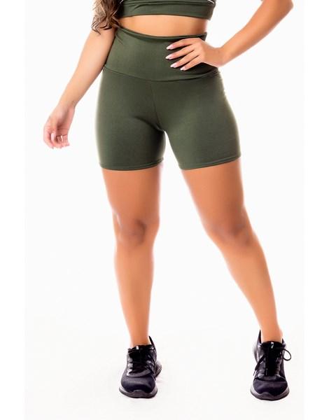 Short Fitness Academia Verde Militar Cintura Alta REF: SV24