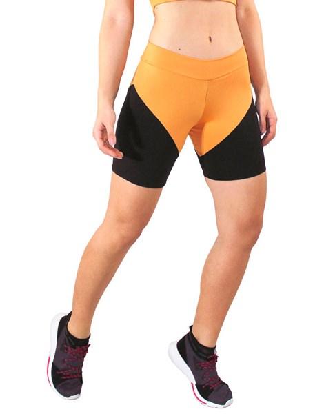 Short Fitness Amarelo Com Detalhes Preto REF: LC34