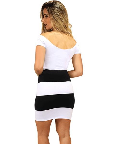 Vestido Coladinho Preto e Branco REF: V0032