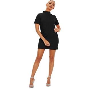 Vestido Curto Feminino com Gola Regata   REF: VRP270