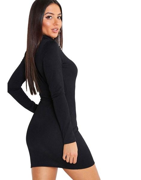 Vestido Curto Manga Longa e Gola Alta REF: NCR0007