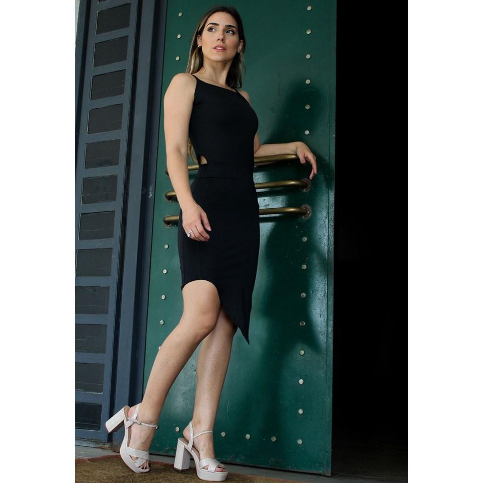Vestido Feminino Alcinha Detalhe Cintura REF: V00156
