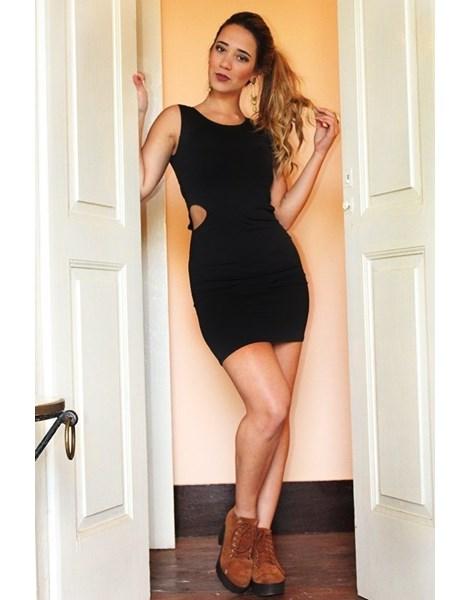 Vestido Feminino Coladinho Detalhe Lateral Aberto REF: V0006