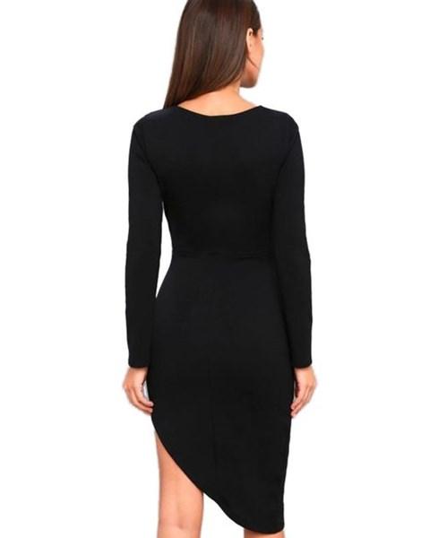 Vestido Feminino Curto com detalhe lateral e manga longa REF:VRP25