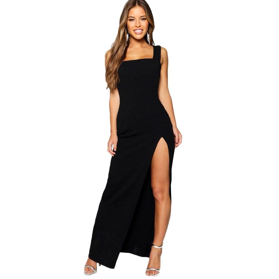 Vestido Feminino Longo Fenda REF: NCR0021