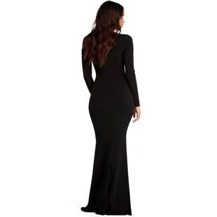 Vestido Feminino Longo Sereia Manga Longa REF: VRP33