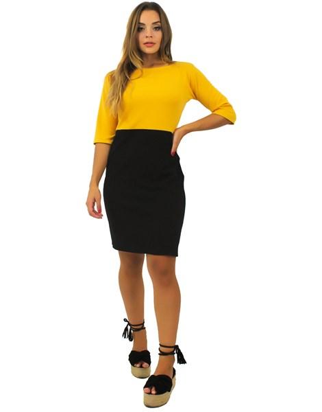 Vestido Feminino Manga Curta Duas Cores REF: TCP50