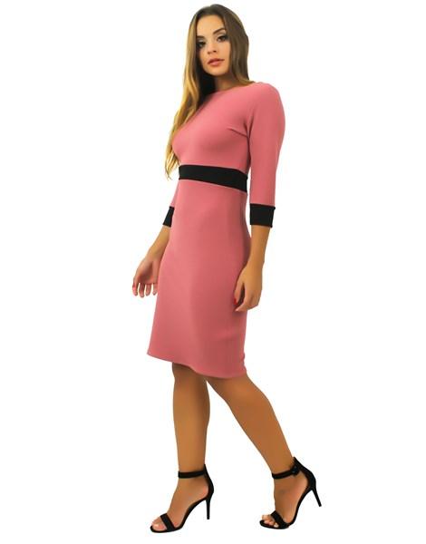 Vestido Feminino Manga Longa Detalhe Cintura REF: TCP57