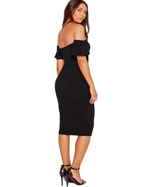 Vestido Feminino Ombro a Ombro Midi REF: VRP242