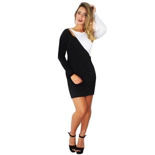 Vestido Feminino Preto e Branco Tubinho Social Festa REF: V0093