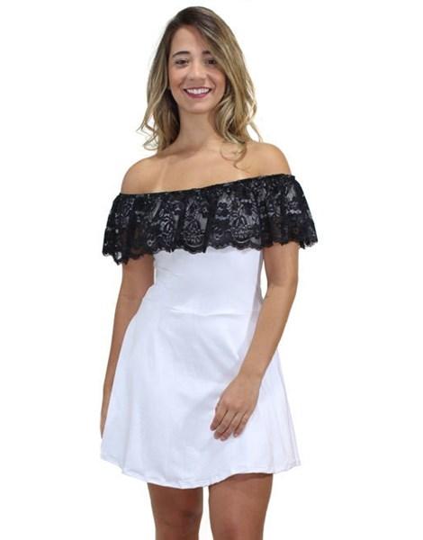 Vestido Feminino Renda Ombro a Ombro REF: V0083