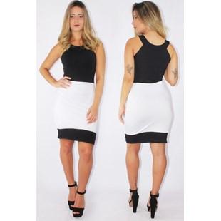 Vestido Feminino Social Preto e Branco REF: V0085