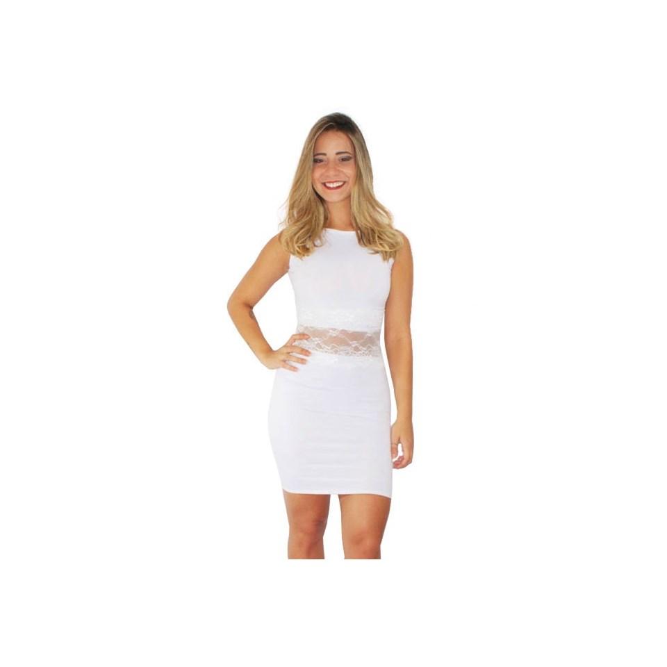 Vestido Feminino Tubinho Social com Renda REF: V0091