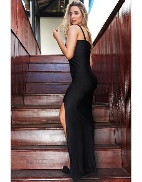 Vestido Longo Alcinha e Fenda Lateral REF: L0002