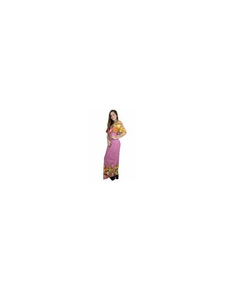 Vestido Longo com Babado Estampa Floral REF: V00228