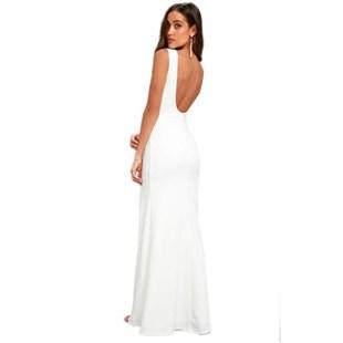 Vestido Longo com Fenda Costa Nua Regata   REF: VRP26