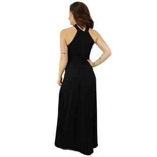 Vestido Longo com Fenda e Decote em Gota REF: L0014