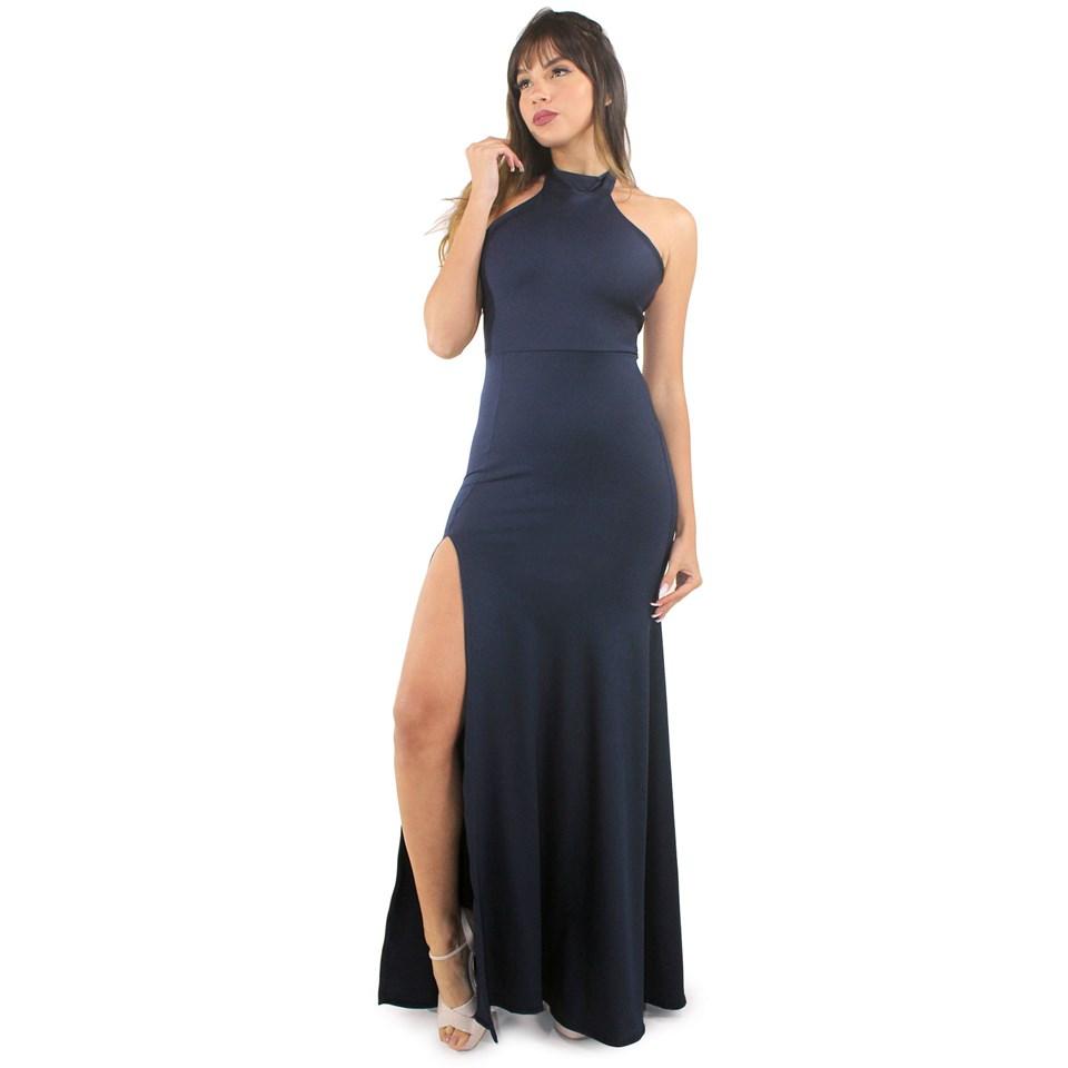 Vestido Longo Festa Detalhe Busto REF: VXN14