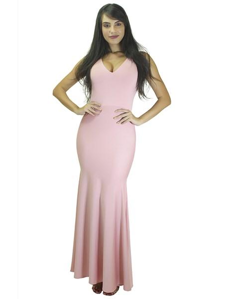 Vestido Longo Rabo de Sereia com Decote  REF: VK26
