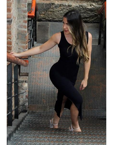 Vestido Longo Regata Com Fenda REF: VXN13