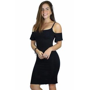 Vestido Manguinha Ombro Nu REF: V00203